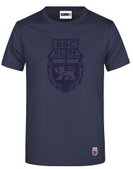 T-Shirt Navy mit dezentem Logo